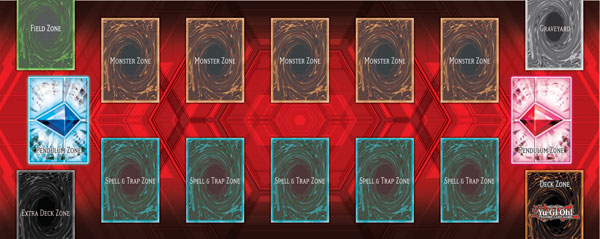 A Game Mat including Pendulum Zones