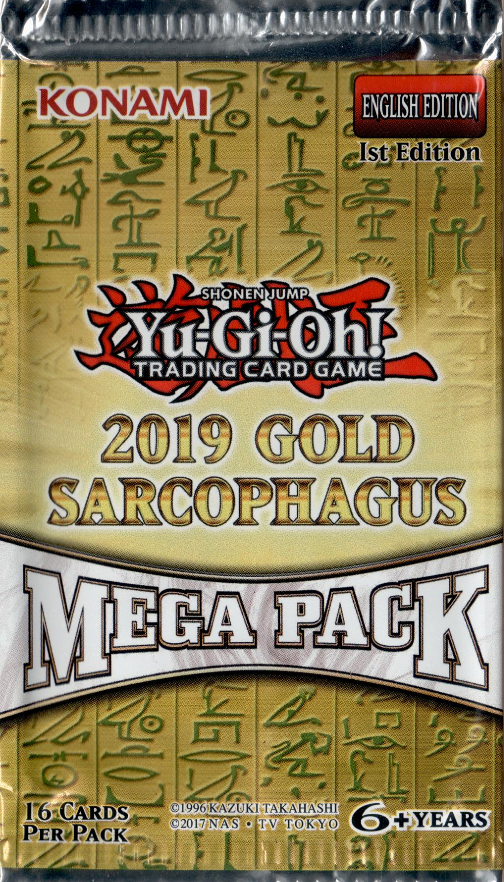 2019 Gold Sarcophagus Tin Mega Pack Yugipedia Yu Gi Oh Wiki