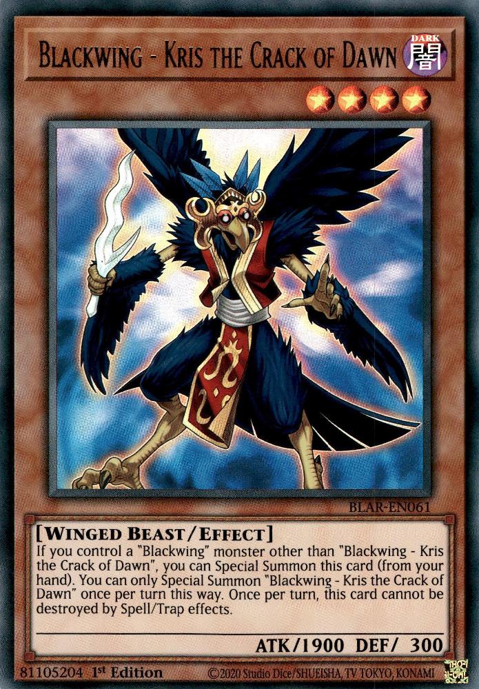 Yu-Gi-Oh PGL2-DE006 Schwarzflügel Gold Secret Rare//1. Kris das Morgengrauen
