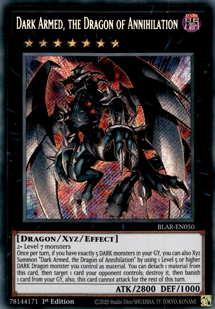Japanese Yu-Gi-Oh Dark Armed the Savage Onslaught Dragon VP18-JP003 Ultra Rare