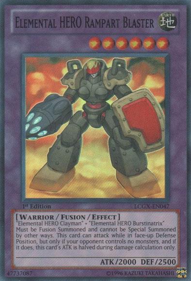 Elemental HERO Rampart Blaster - Yugipedia - Yu-Gi-Oh! wiki