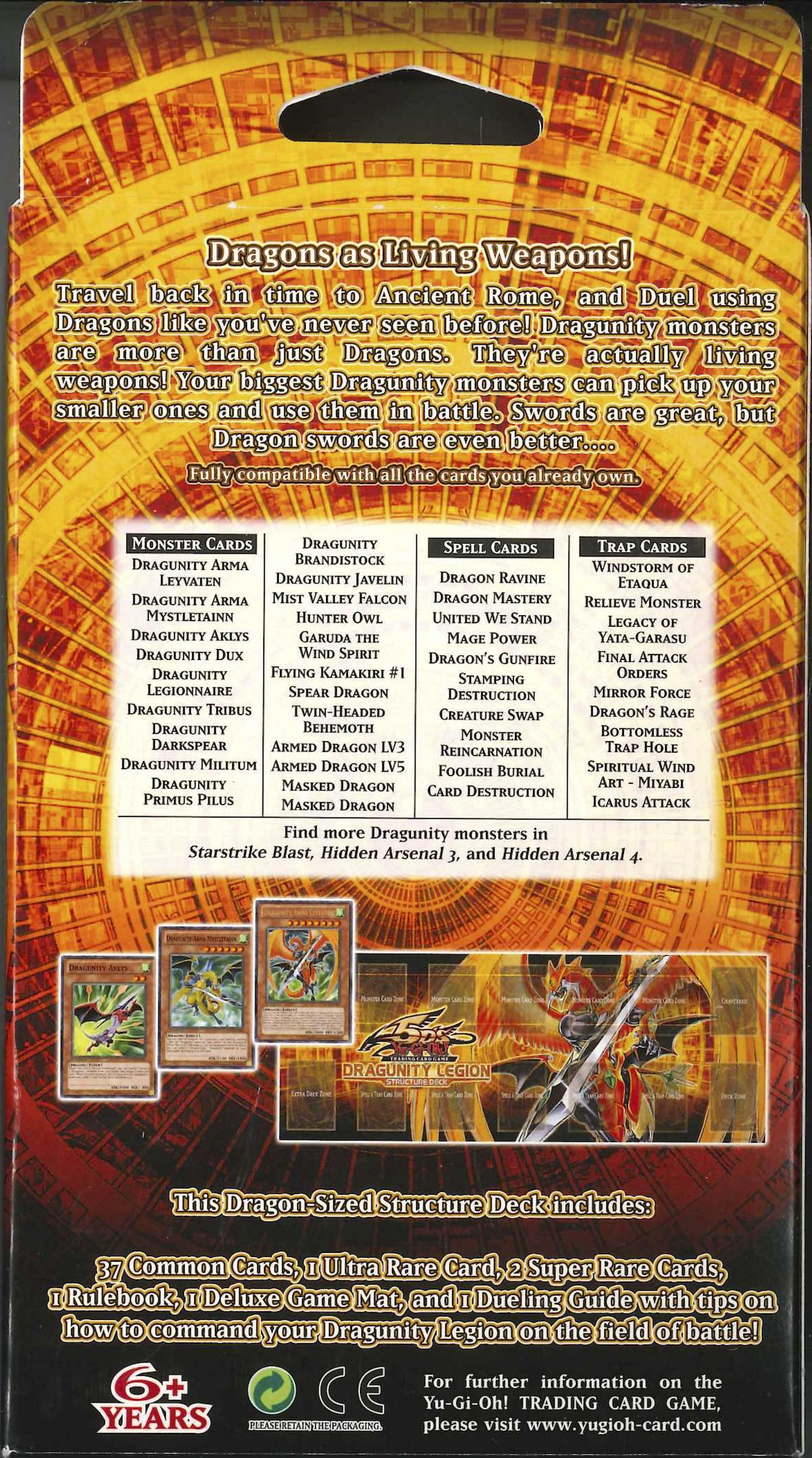 SDDL Cards Dragunity Legion Structure Deck Yu-Gi-Oh