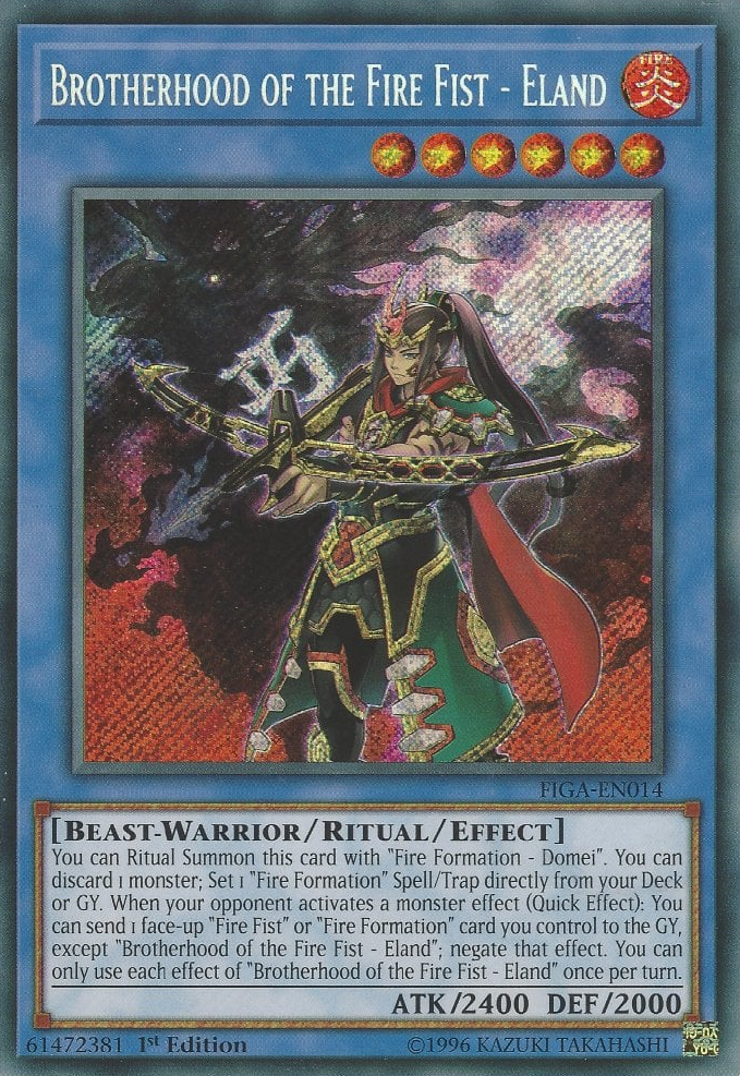 Domei Secret Rare Fists of the Gadgets Yugioh Card Fire Formation
