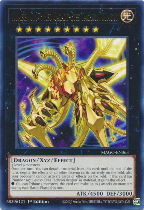 Neo Galaxy-Eyes Tachyon Dragon Super M//NM Yugioh Number C107 MP15-EN023