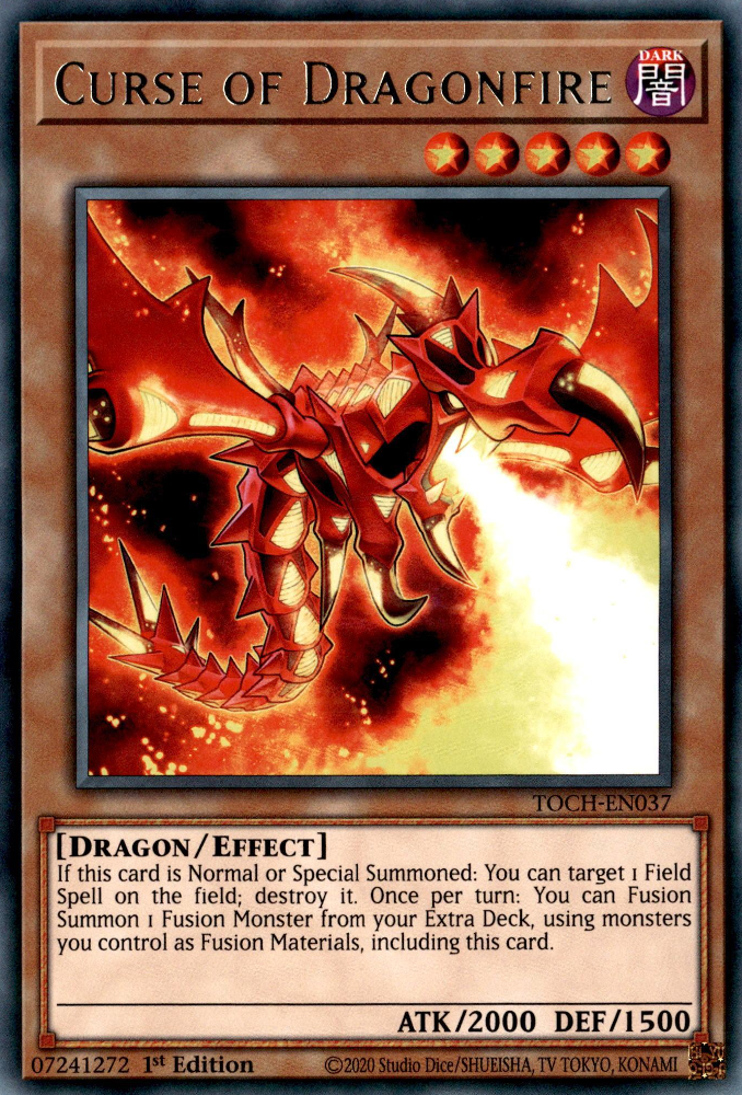 MIL1-EN002 Curse of Dragonfire Ultra Rare 1st edition YuGiOh Card