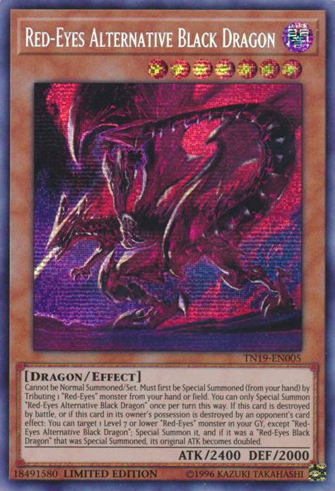 YuGiOh Rotäugiger alternativer schwarzer Drache
