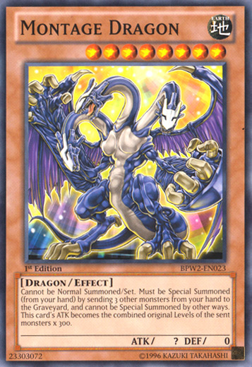 Yugioh Montage Dragon WGRT-EN023 Common Mint Condition x3