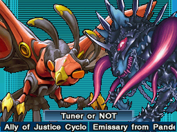 Ally of Justice Cyclone Creator along with Emissary from Pandemonium, in Reverse of Arcadia