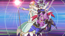 "Blue Gal's ""Trickstar"" monsters combine their abilities."