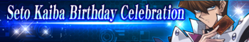 Seto Kaiba Birthday Celebration Gift