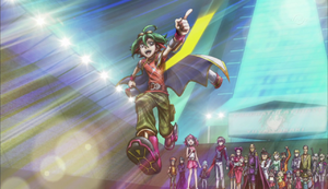 Yuya heads off for his next Duel.
