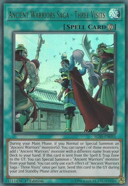 """Ancient Warriors - Valiant Zhang De"", ""Ancient Warriors - Virtuous Liu Xuan"", and ""Ancient Warriors - Loyal Guan Yun"" in the artwork of ""Ancient Warriors Saga - Three Visits"""
