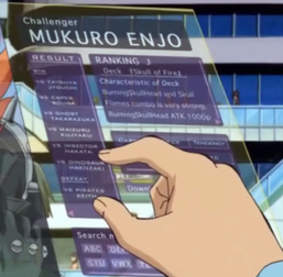 Enjo's data with Dinosaur Hakozaki's name.
