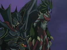 """The Supreme King and """"Evil HERO Inferno Wing""""."""