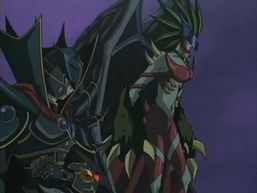 "The Supreme King and ""Evil HERO Inferno Wing""."