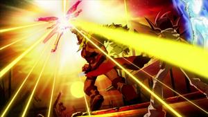 """Lion Heart"" defeating ""Comet Cestus""."