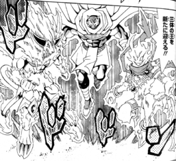 """""""Red Lotus King, Flame Crime"""", """"Wandering King Wildwind"""" and """"Cursed Fire King Doom Burst""""."""