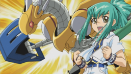 "Leo alongside ""Power Tool Dragon""."