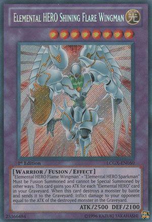 Elemental Hero Shining Flare Wingman Yugipedia Yu Gi Oh