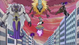 """Dr. Genome assembles his """"Helixx"""" Link Monsters."""
