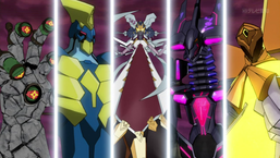 """Giant Hand"", ""Battlin' Boxer Star Cestus, ""Ragnazero"", ""Galaxy-Eyes Tachyon Dragon"" and ""Star Seraph Sentry"""