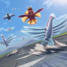 """Stormrider Griffore"", ""Stormrider Hippogriff"" and several ""Stormrider Skyfisher"" in the artwork of ""Stormrider Return""."