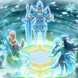 """General Gantala"", ""General Grunard"" and ""General Raiho"" in the artwork of ""Magic Triangle of the Ice Barrier""."