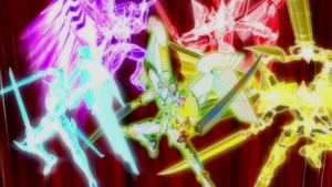 "The other forms of ""Utopia"" appear to perform ""Deadly Final Hope Sword Slash""."