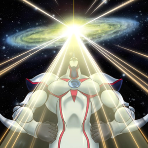 """Elemental HERO Neos"" performing a Contact Fusion in the artwork of ""Miracle Contact"""