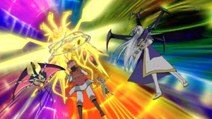 """Neo Galaxy-Eyes Tachyon Dragon"" activates its effect, ""Time Tyrant""."