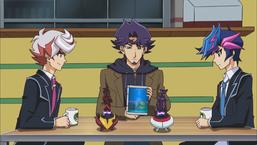 Kolter convenes with Yusaku, Theodore, Ai and Flame.