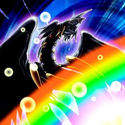 """Rainbow Dark Dragon"" in the artwork of ""Rainbow Gravity"""