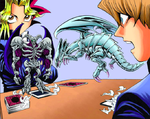 Blue-Eyes White Dragon refusing Kaiba's order to attack