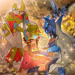 """""""Matriarch"""", """"Disciple"""", """"Devotee"""", and """"Cerulean Sacred Phoenix"""" in the artwork of """"Last Hope of Nephthys"""""""