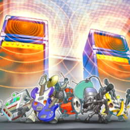 "From left to right, ""Symphonic Warrior Synthess"", ""Basses"", ""Drumss"", ""Miccs"", and ""Guitaar"" appear in the artwork of ""Symph Amplifire"""