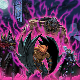 """Clock Tower Prison"", ""Diamond Dude"", ""Dreadmaster"", ""Captain Tenacious"" and ""Doom Lord"" in the artwork of ""D - Tactics""."