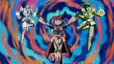 """From left to right: """"Alexandrite"""", """"Lapis"""" and """"Emerald"""""""