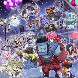 """""""Ghostrick"""" monsters in the artwork of """"Ghostrick Parade""""."""