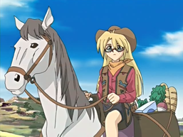 Rebecca, riding Copernicus