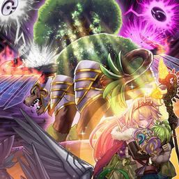 """""""Ritual Beast Ulti-Gaiapelio"""", """"Ritual Beast Tamer Lara"""", """"Ritual Beast Tamer Zefrawendi"""" and """"Ritual Beast Tamer Zeframpilica"""" in the artwork of """"Ultimate Providence"""""""