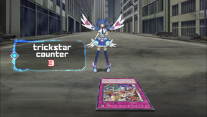 The readout for Trickstar Counters in the anime