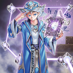 """""""Spellbook Magician of Prophecy"""" and """"Spellbook of Secrets"""" in the artwork of the former card."""