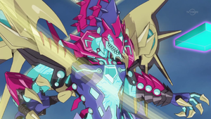 """Galaxy-Eyes Cipher Dragon"" exudes incredible anger."