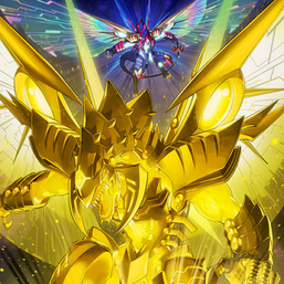 """""""Galaxy-Eyes Cipher Dragon"""" in the artwork of """"Double Cipher""""."""