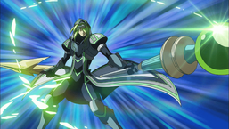 """""""Cyberse Magician"""" dual-wields """"Resume Mace"""" and """"Suspend Wand""""."""