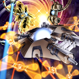 """Crystal Core"", ""Big Core"" and ""Tetran"" in the artwork of ""Boss Rush"""