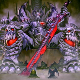 """""""Archfiend Emperor, the First Lord of Horror"""", with """"Archfiend Soldier"""" and """"Archfiend General"""" in front of """"Archfiend Palabyrinth"""""""