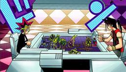Yugi and Ryuji's Dungeon Dice Monsters game