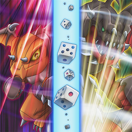 """Armed Dragon LV3"" and ""Armed Dragon LV5"" in the artwork of ""Level Change""."