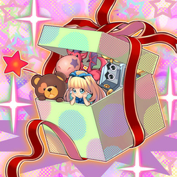 """Doll Monsters """"Mr. Dragon"""", """"Rob Robot"""", """"Bear-Bear"""", and """"Miss MadChen"""" in the artwork of """"Box of Friends""""."""